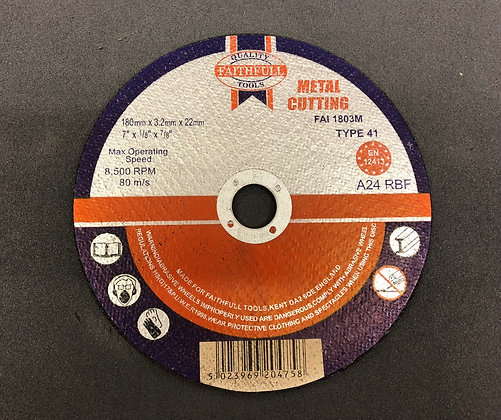 "Cutting Disc Metal 7"""