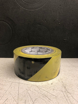 Yellow & Black Hazard Tape 50mm 33 metre