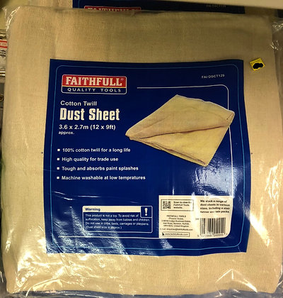 Dust Sheet Cotton Twill