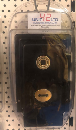 RL604BL Rim lock 6 x 4 black