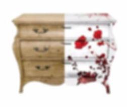 Restyled Dresser by Habitat Improver, photo decoupage and bespoke decorative painting