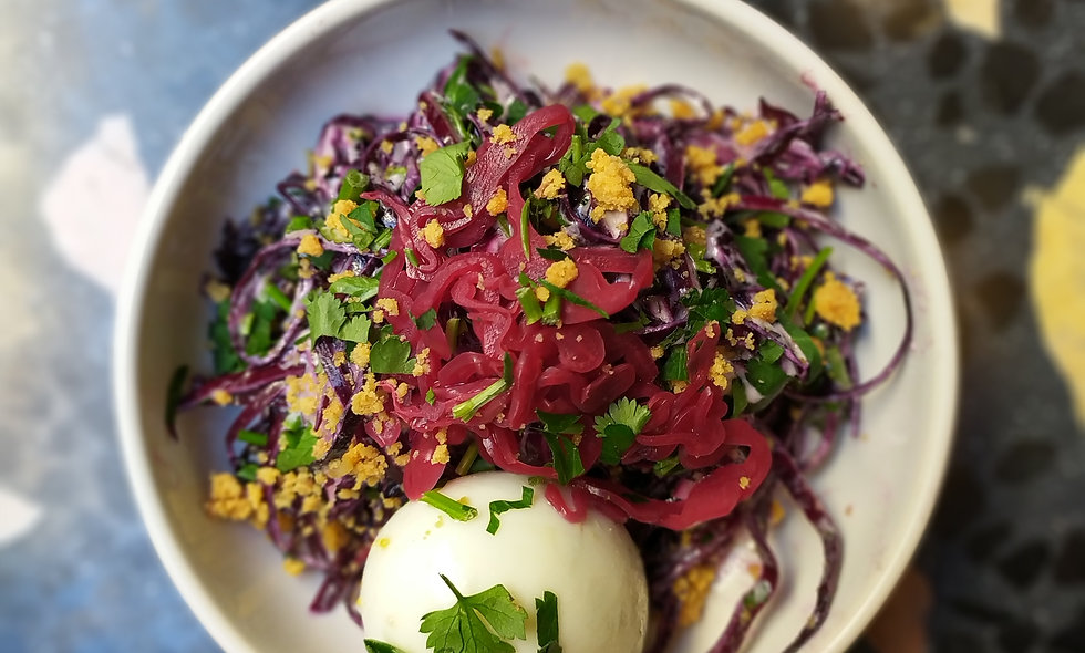 Entrée : Salade de chou rouge