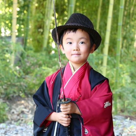 竹林がキレイな七五三の神社ロケ。(長野市)