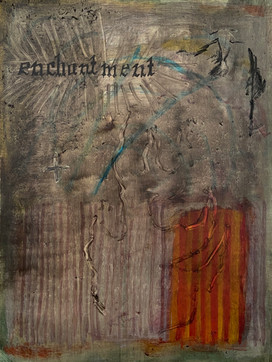enchantment, oil on panel, 24x18 cm, 2021
