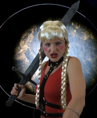 'Brunhild the warrior', digital photocollage
