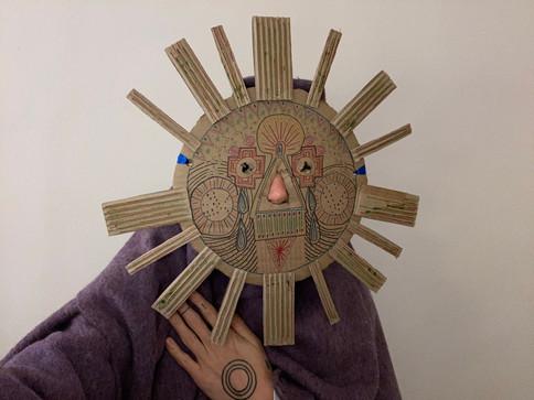 portrait as sun deam figure