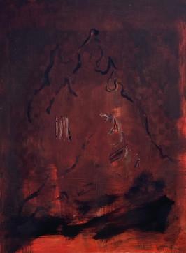brightness is light in darkness, oil on panel, 24x18 cm, 2021