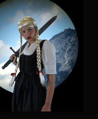 Brunhild, digital photocollage, 2019