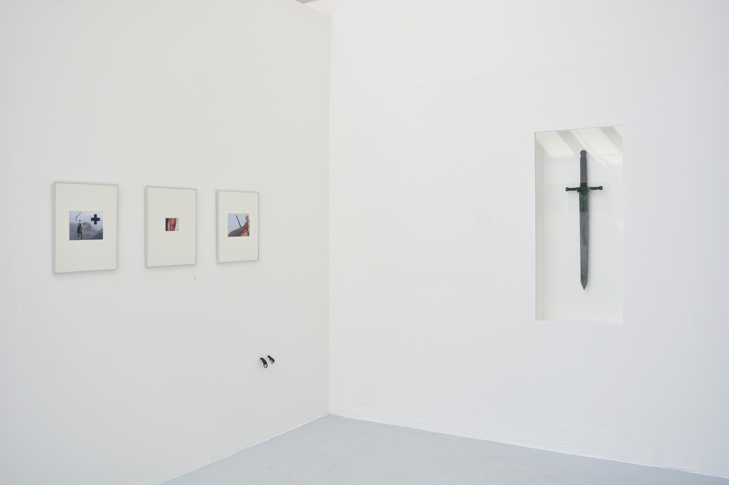 Installation shot of 'Kneeling before icons'