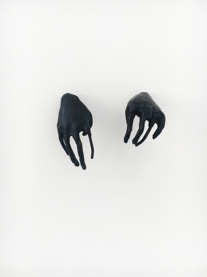 'tiny creepy hands', bronze, 2018