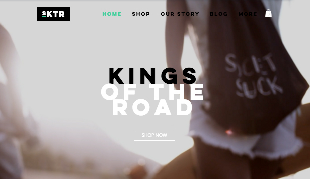 Webshop website templates – Skateboardshop