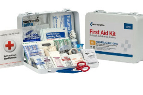 25 Person Bulk Metal First Aid Kit, ANSI Compliant