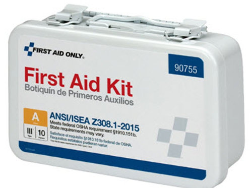 10 Person Bulk Metal First Aid Kit, ANSI Compliant