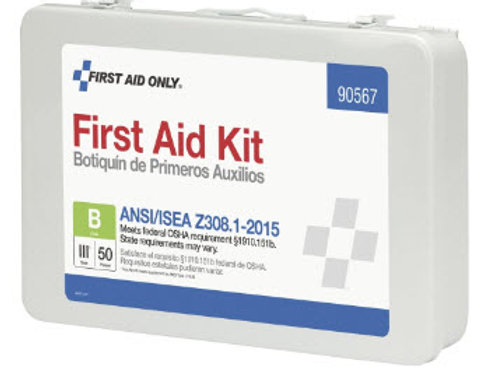 50 Person Bulk Metal First Aid Kit, ANSI Compliant