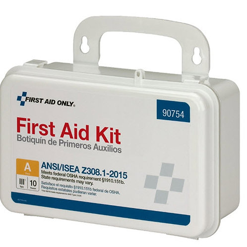 10 Person Bulk Plastic First Aid Kit, ANSI Compliant