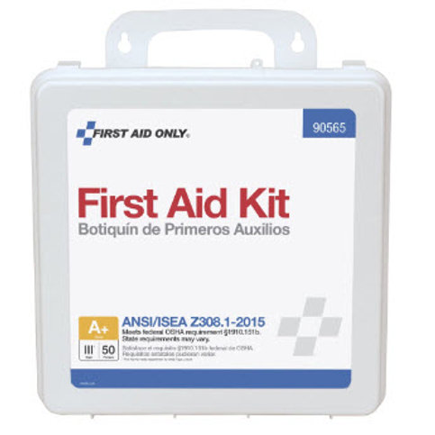 50 Person Bulk Plastic First Aid Kit, ANSI Compliant