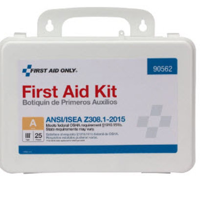 25 Person Bulk Plastic First Aid Kit, ANSI Compliant