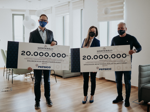 40M HUF aid to the frontline health workers from Szentkirályi and PepsiCo