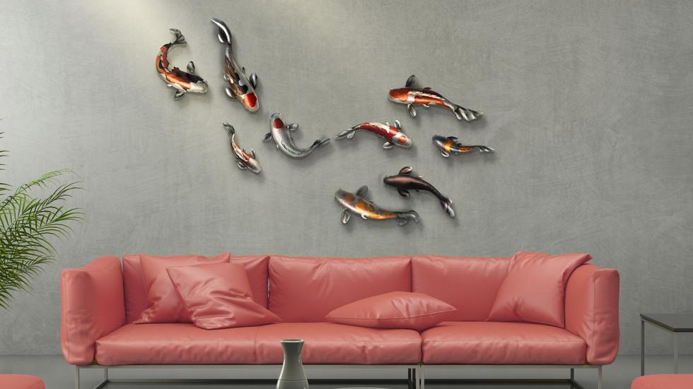 ฝูงปลาคราฟ 9 ตัว