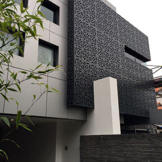 Perforated decorative aluminium screenin