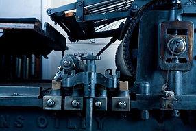 Payne & Sons Wharfedale cylinder printing press (detail).jpg