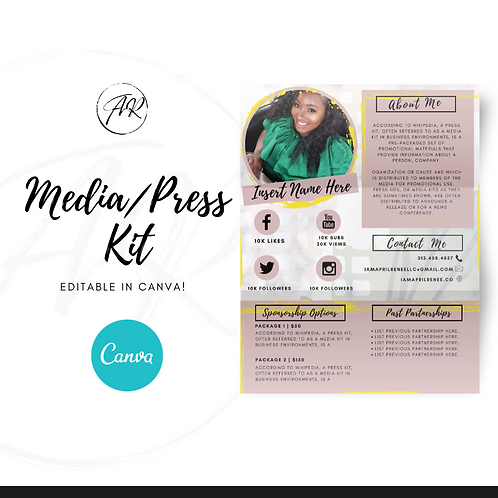 LARA - Media/press kit - Canva Template