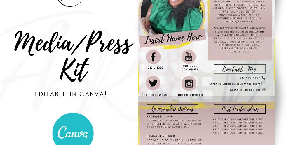LARA - Media/press kit - Canva Template