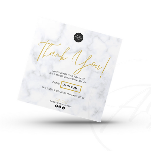 Flyers | Packing Inserts | Thank You Cards (PRINT + DESIGN)