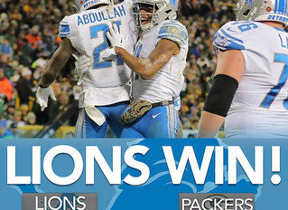 "Trending Topics: ""Lions Leave Lambeau with the Win"" (30-17)"