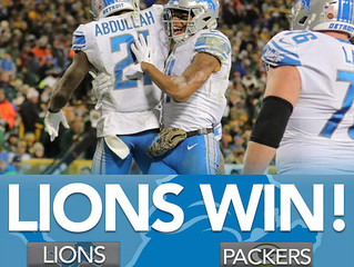 """Trending Topics: """"Lions Leave Lambeau with the Win"""" (30-17)"""