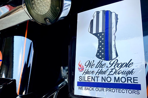 We The People Silent No More Window Decal