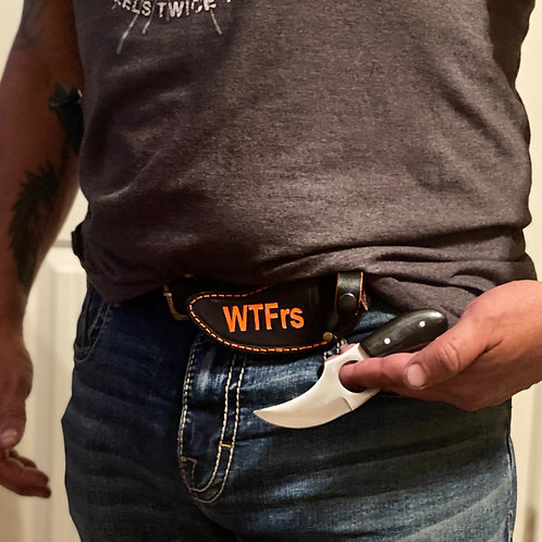 Quick Pull Skinner Blade w/WTFrs Sheath