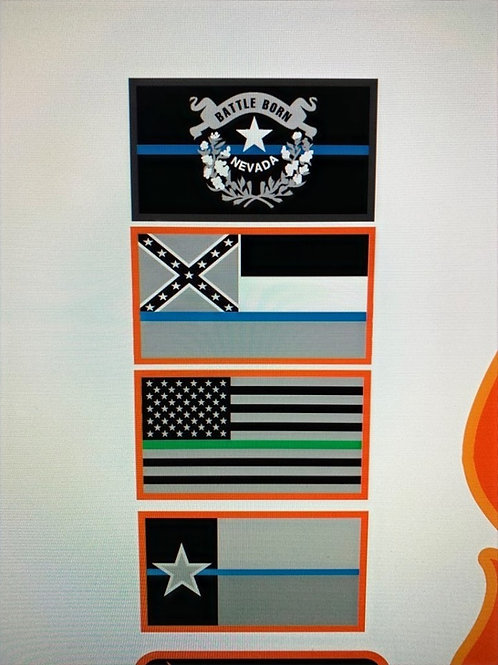 WTFrs Flag Set Patches - Both US and State