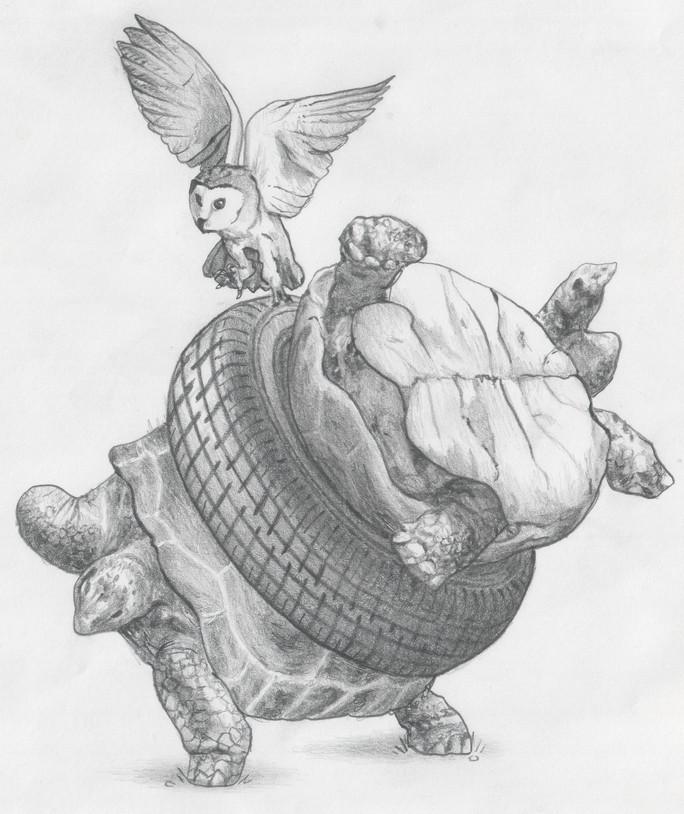 Fable Illustration 03, graphite pencil