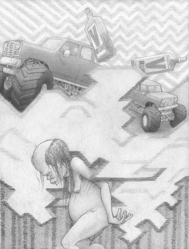 V-RUM V-RUM, graphite pencil