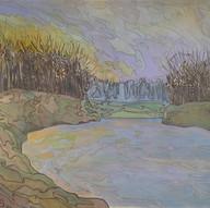 Landscape (River & Sunset)