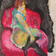 Seated Figure (After Toulouse-Lautrec)