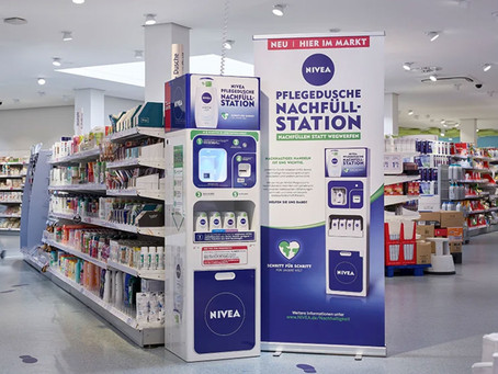 NIVEA launches its first shower gel refill station to reduce plastic packaging waste