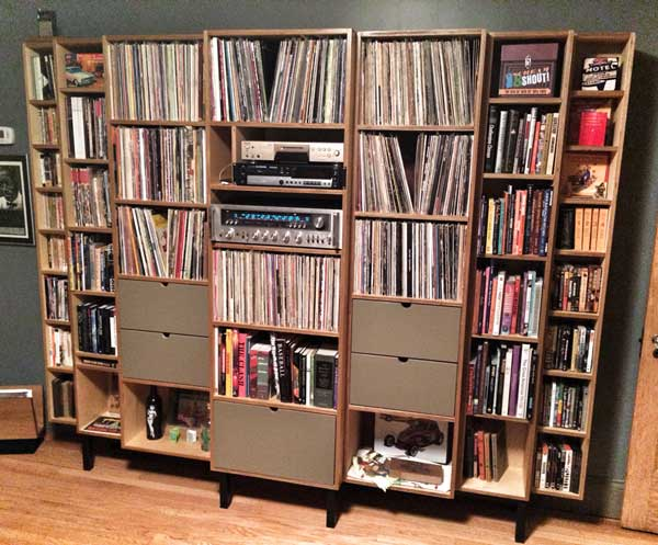 Vinyl Storage For Audiophiles | Mid Century Modernized Custom Furniture