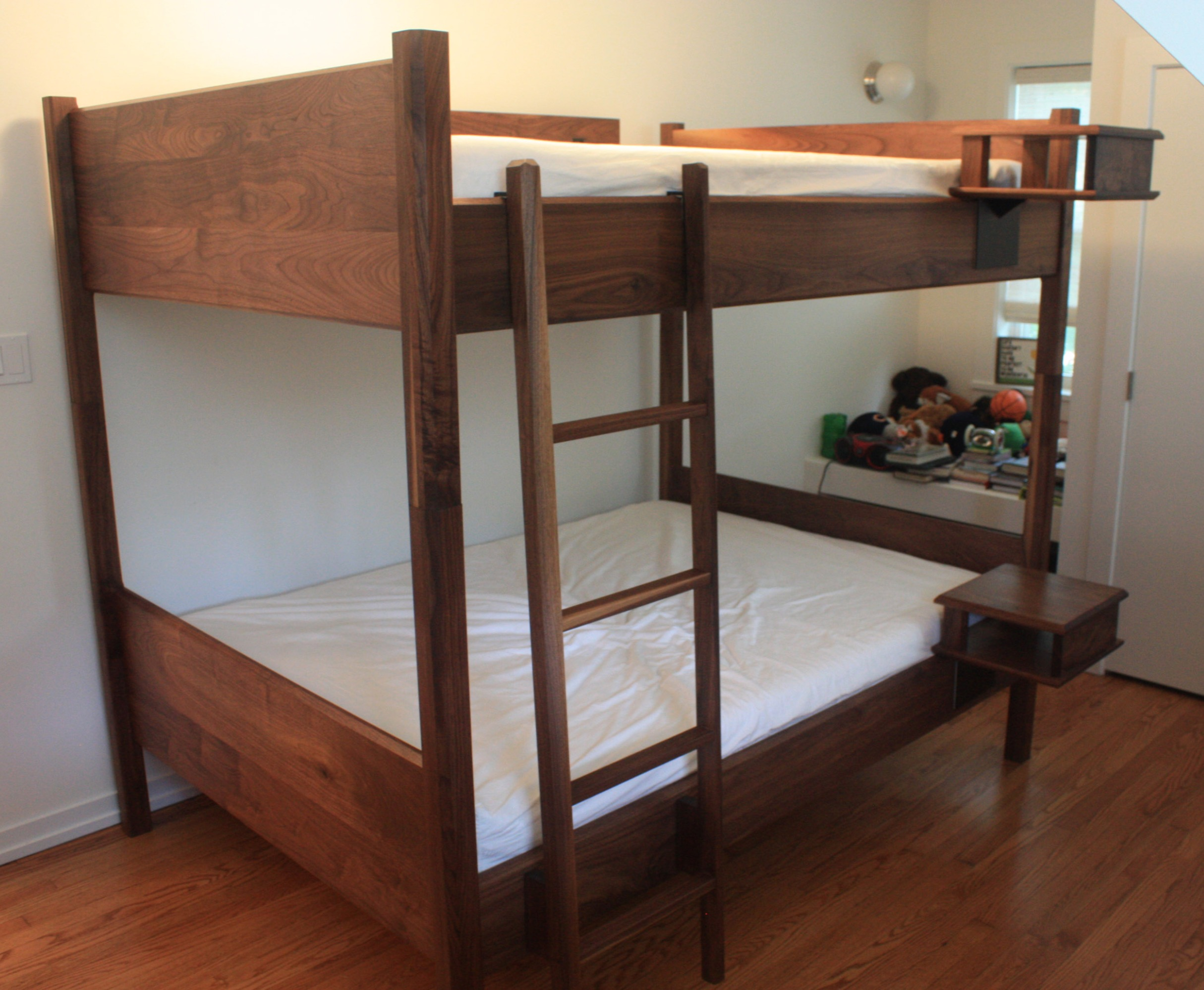 Brokenpress Full Size Bunkbeds in Solid Walnut