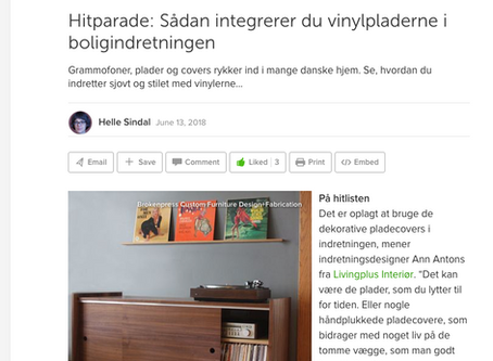 The Standard featured in a Danish Houzz Lookbook