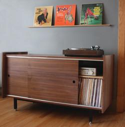 The Standard Audio Credenza with Record Rail