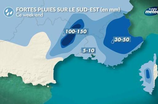 Demain : pluies abondantes au sud-est, vents forts en Bretagne