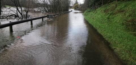 En Mayenne. Plusieurs routes fermées à cause d'inondations ce mercredi 3 février