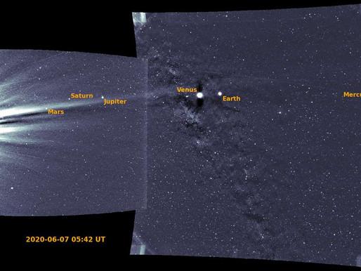 Les planètes du Système solaire réunies sur une même photo