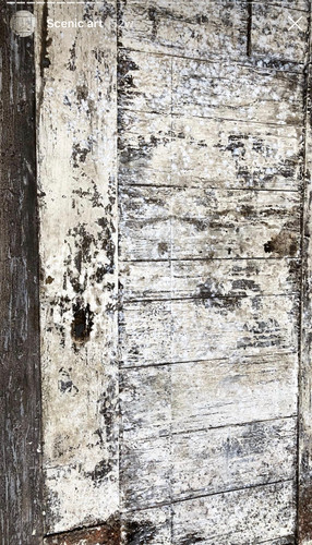 Heavily distressed door for theatre show built at Liverpool Scenic Workshops