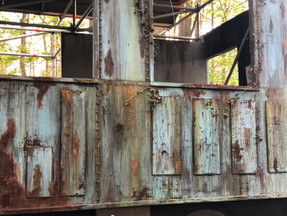 Paint job for 'Disco Train' stage set at Forbidden Forest  Company who built the set:Crafthousecreatives