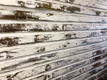 Distressed wooden panel for windmill