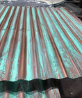 Corrugated steel hand painted