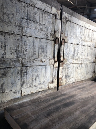 Heavily Distressed wood for Theatre show  Built at Likverpool Scenic Workshops